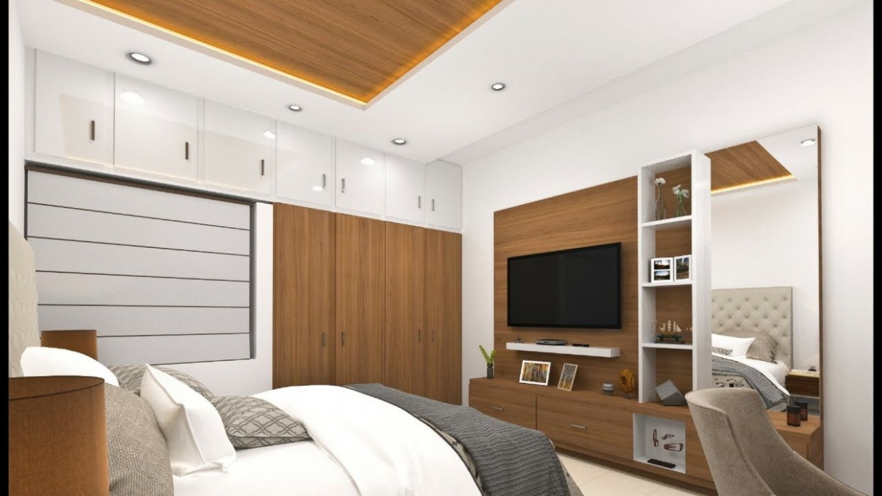 10×10 bedroom design and TV unit/panel design in India ! Modular bedroom  design - Bedroom Layout Ideas 10 X 12