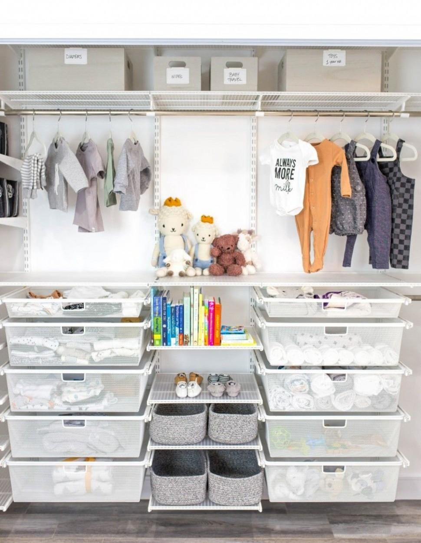 10 Baby Nursery Organization Ideas  Baby nursery closet, Nursery  - Baby Room Storage Ideas