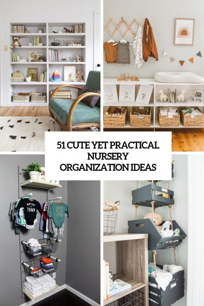 10 Cute Yet Practical Nursery Organization Ideas - DigsDigs - Baby Room Storage Ideas