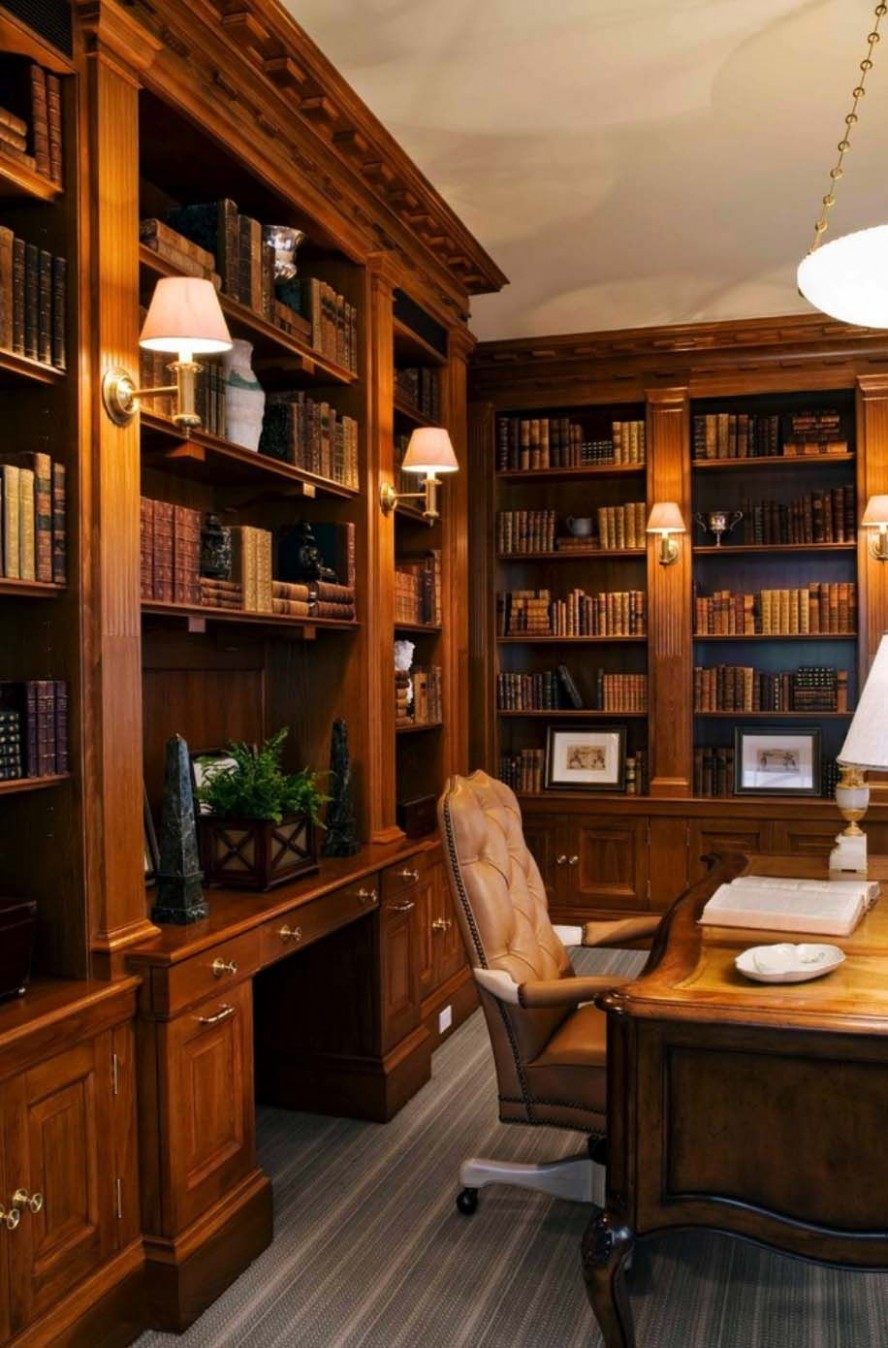 10 Dreamy home offices with libraries for creative inspiration  - Home Office Library Ideas