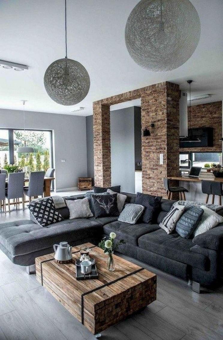 10+ Elegant Rustic Apartment Living Room Decor Ideas  - Rustic Apartment Decor Ideas