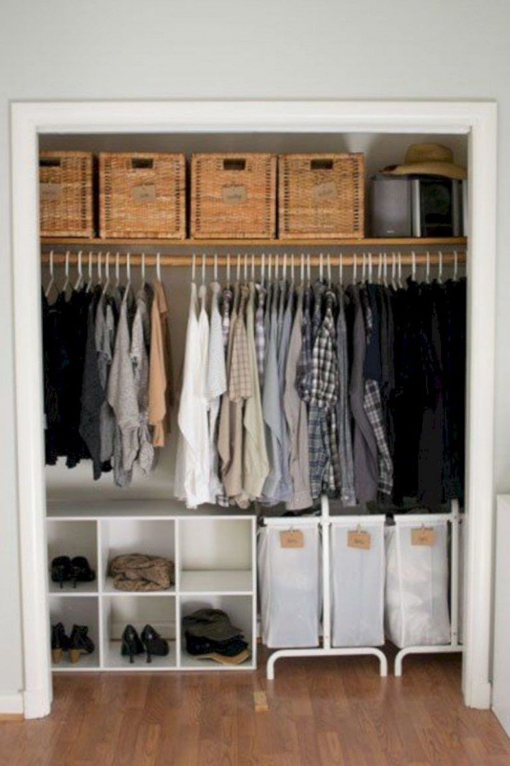 10 Gorgeous Wardrobe Storage Ideas in 10  Closet apartment  - Closet Ideas Apartment