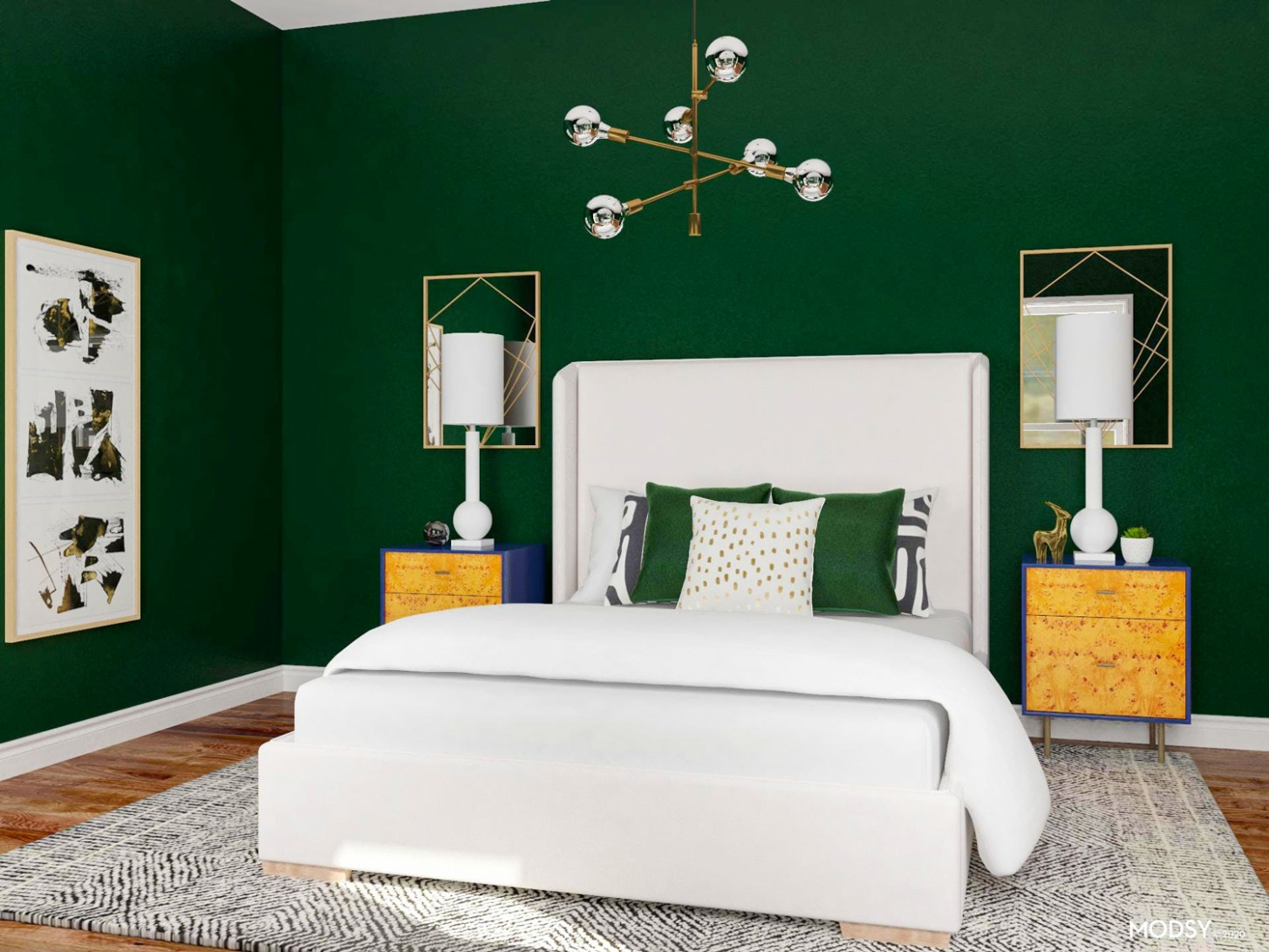 10 Green Bedroom Ideas for the Perfect Relaxing Retreat  Modsy Blog - Bedroom Ideas Dark Green