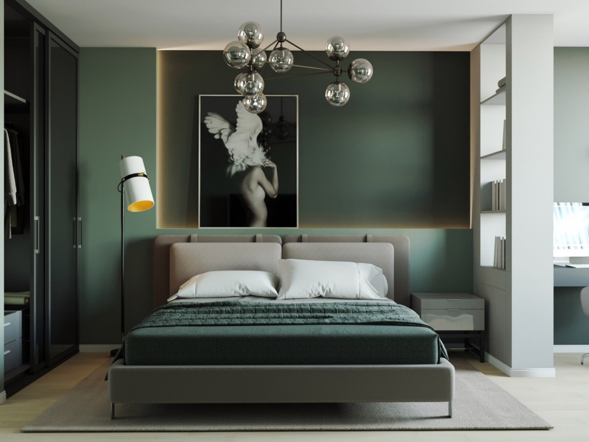 10 Green Bedrooms With Tips And Accessories To Help You Design Yours - Bedroom Ideas Dark Green