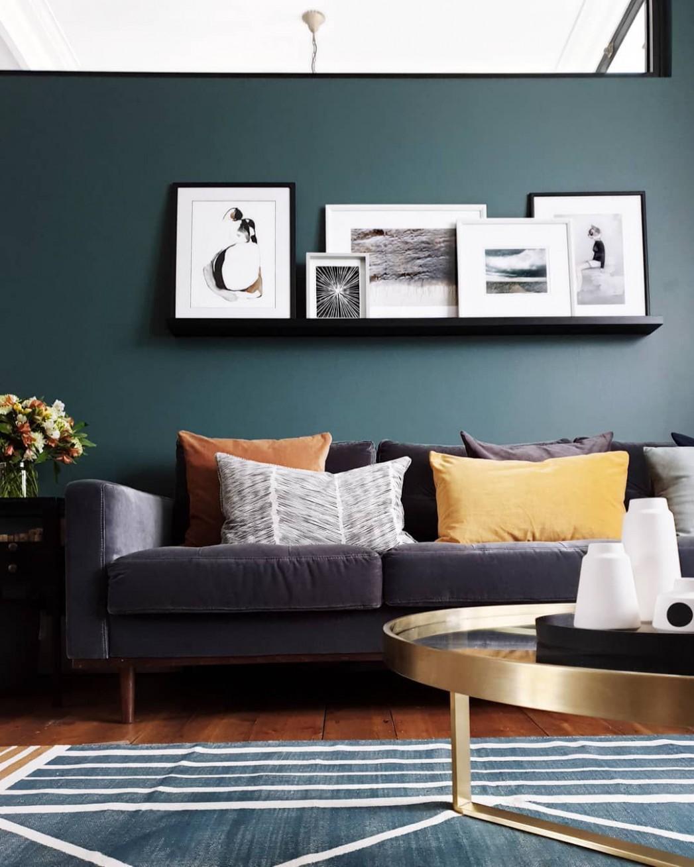 10 Green Living Rooms - Bedroom Ideas Dark Green