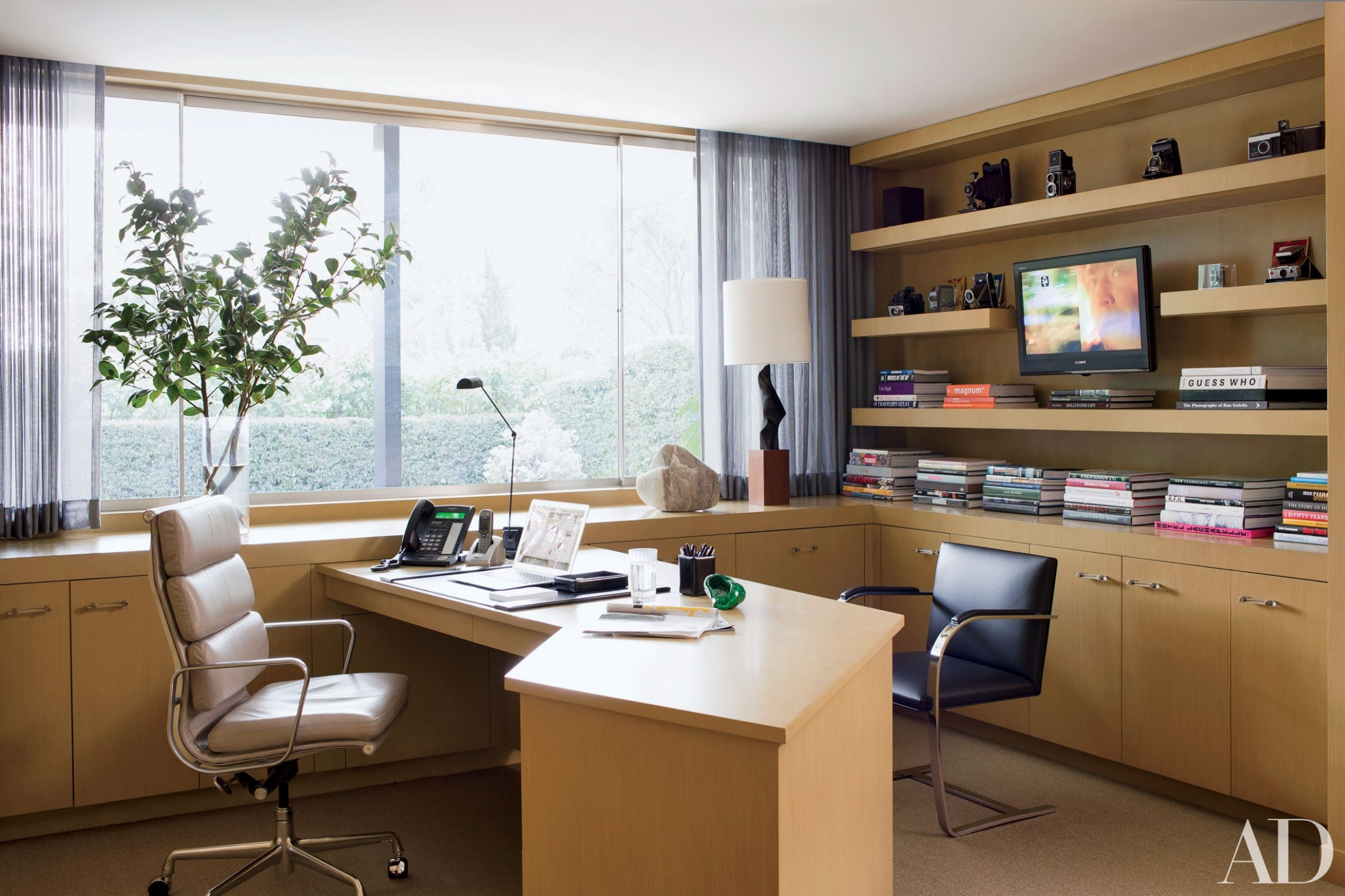 10 Home Office Ideas That Will Inspire Productivity  - Home Office Library Ideas