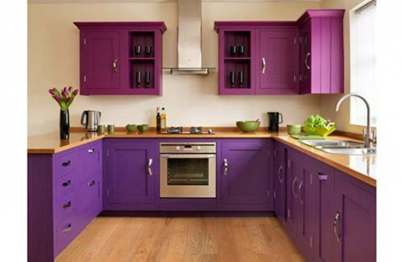 10 ideas about decorating kitchen on pinterest beautiful within  - Pink And Purple Kitchen Cabinets