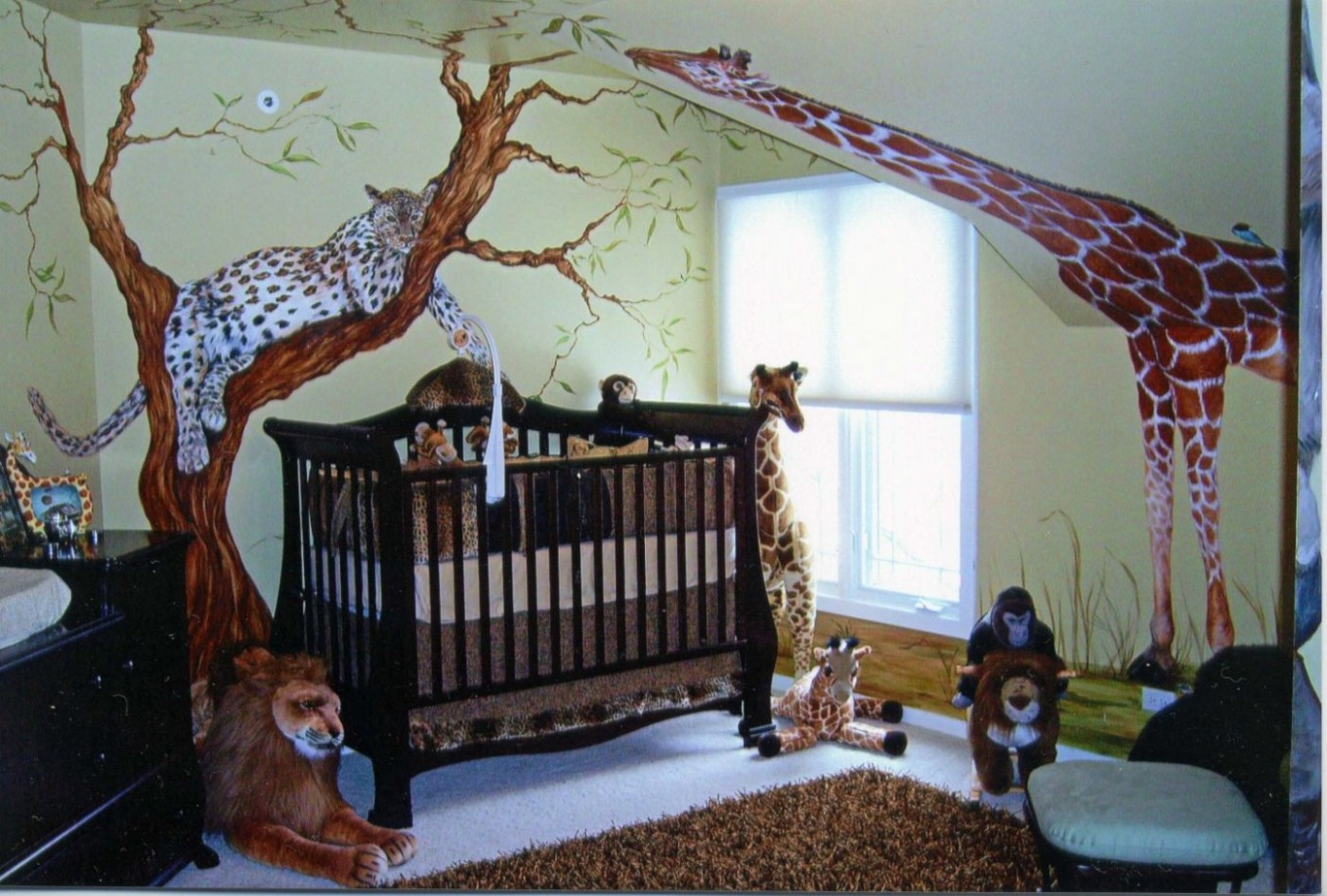 10+ Jungle themed Baby Rooms - Bedroom Closet Door Ideas Check  - Baby Room Jungle Theme Ideas