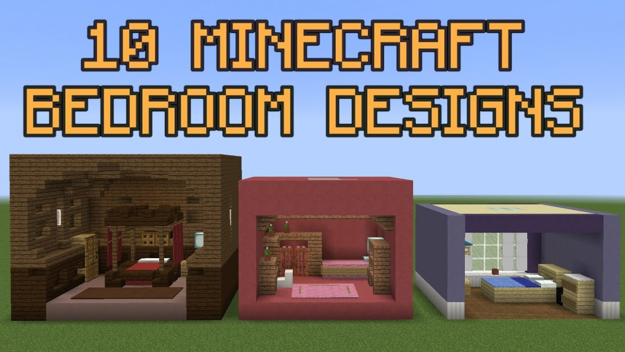 10 Minecraft Bedroom Designs! - Bedroom Ideas In Minecraft