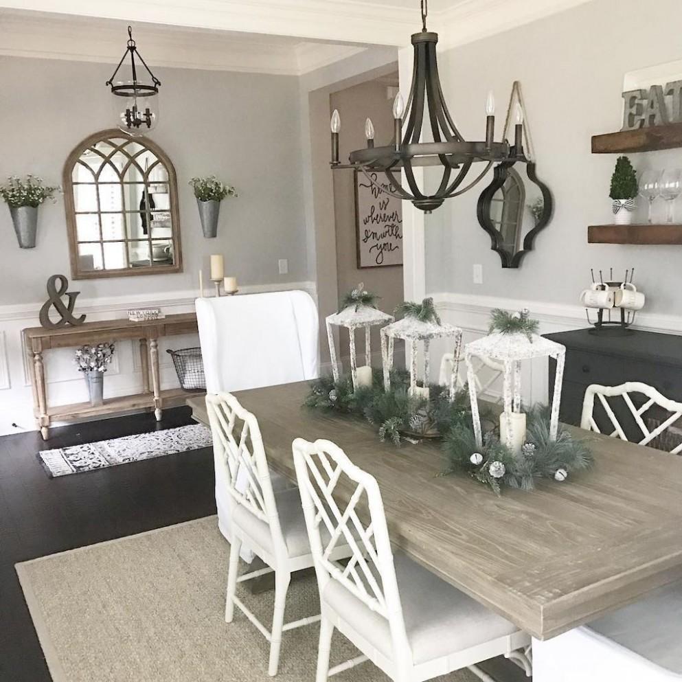 10 Modern Farmhouse Dining Room Decor Ideas (10)  Modern  - Dining Room Ideas Modern Farmhouse