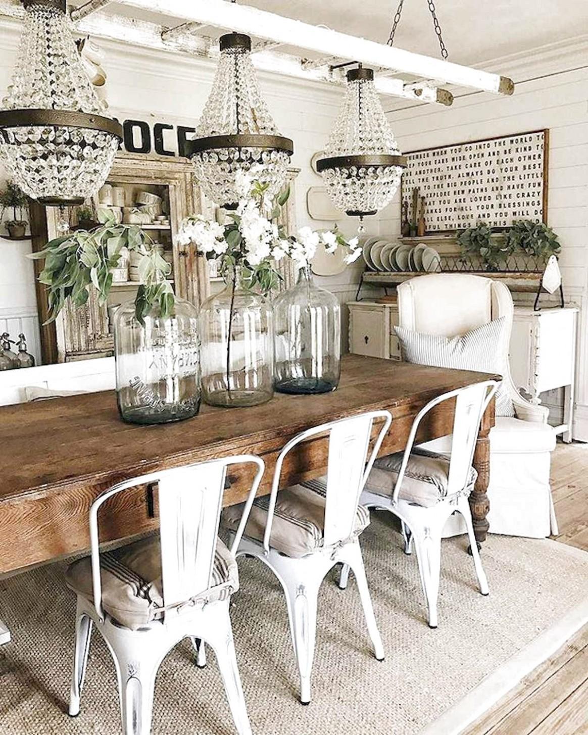 10 Modern Farmhouse Dining Room Table Ideas Decor And Makeover  - Dining Room Ideas Modern Farmhouse