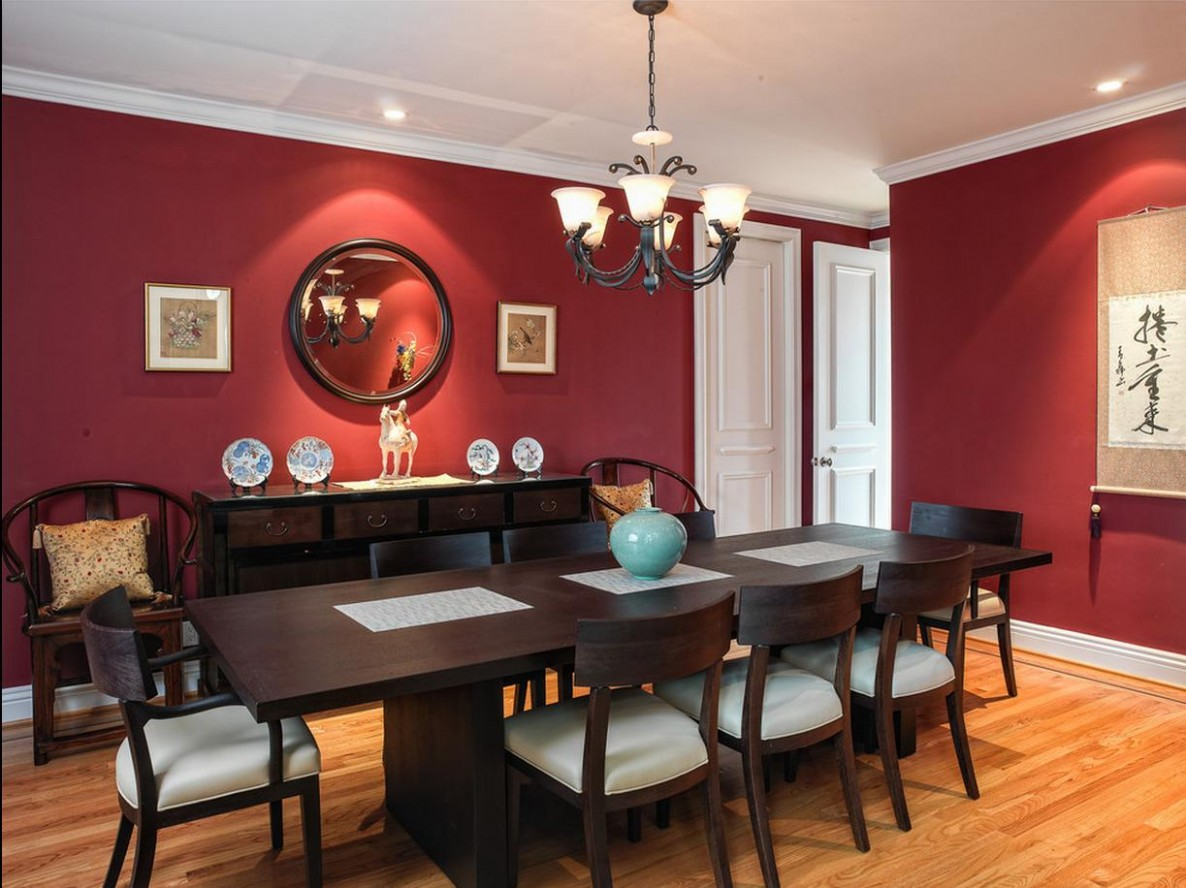 10 Of The Best Colours For Your Dining Room Revealed - Dining Room Ideas Red