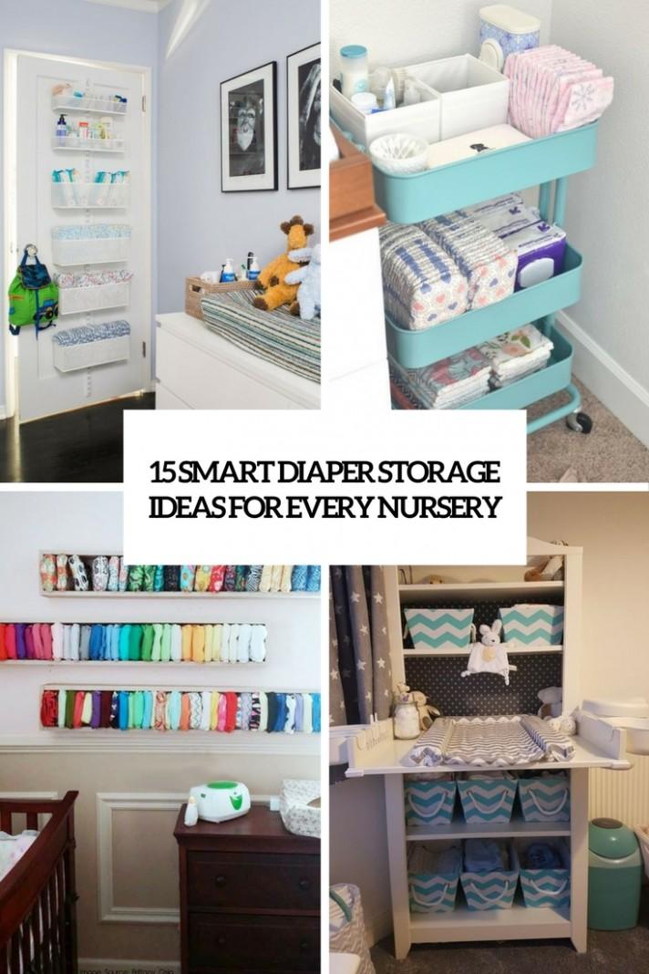 10 Smart Diaper Storage Ideas For Every Nursery - Shelterness - Baby Room Storage Ideas