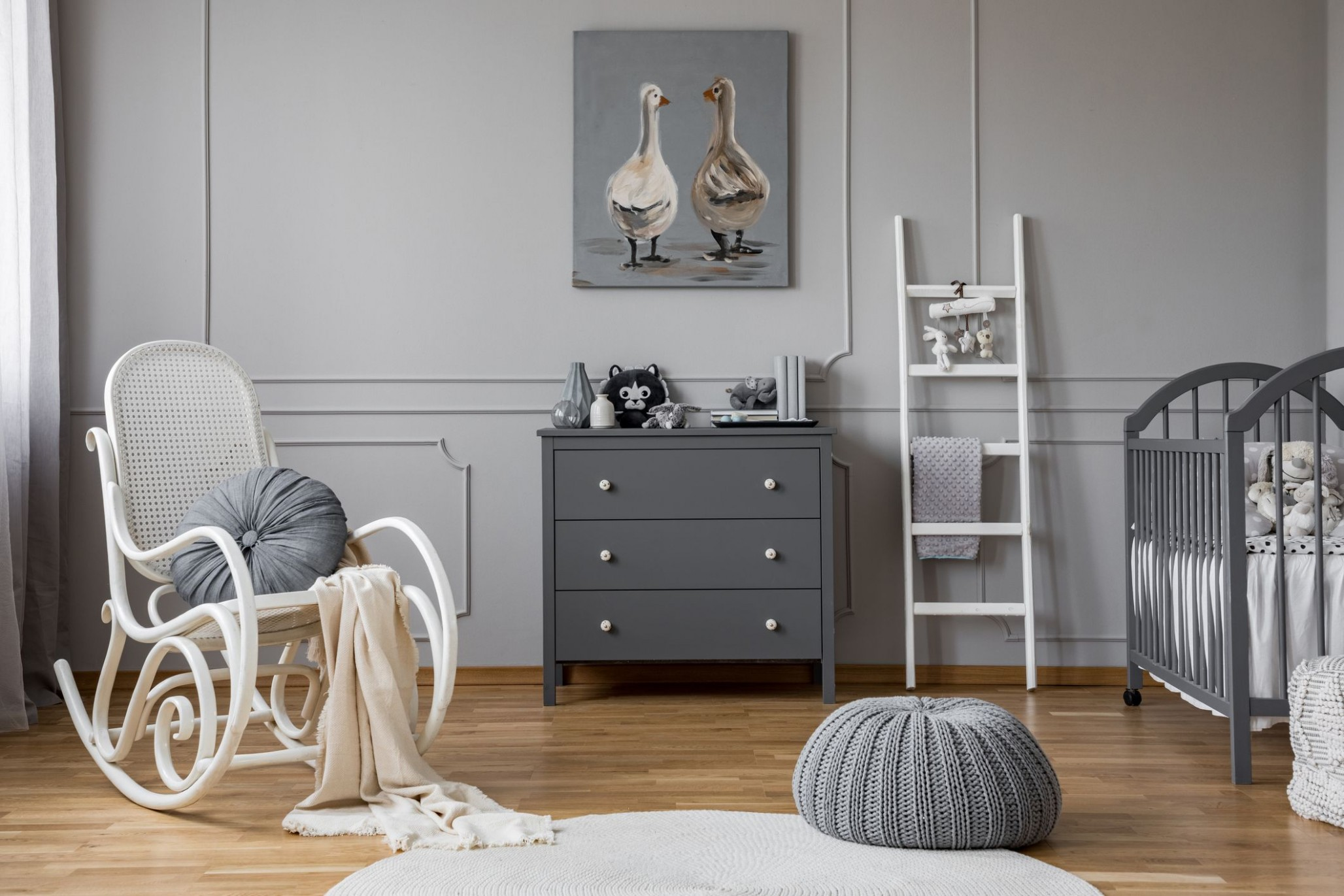 11 Best Gray Paint Colors for the Nursery - Baby Room Grey