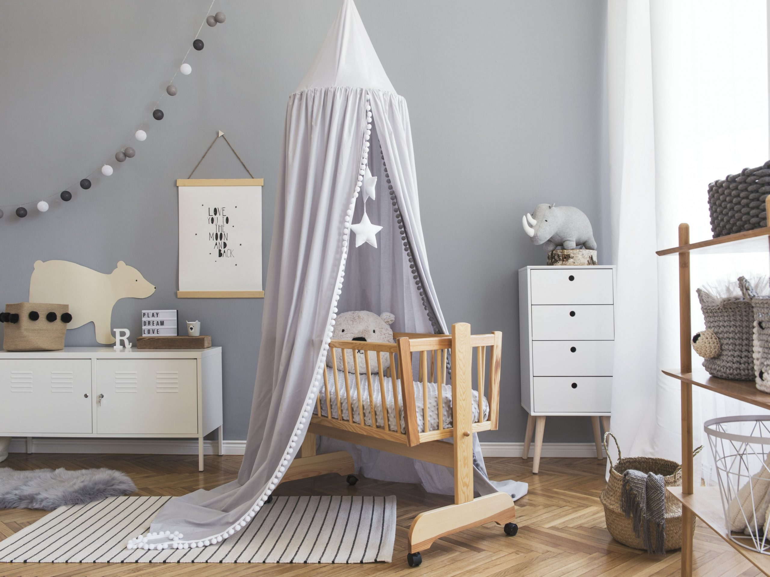 11 Best Paint Colors for a Boy Nursery - Baby Room Grey