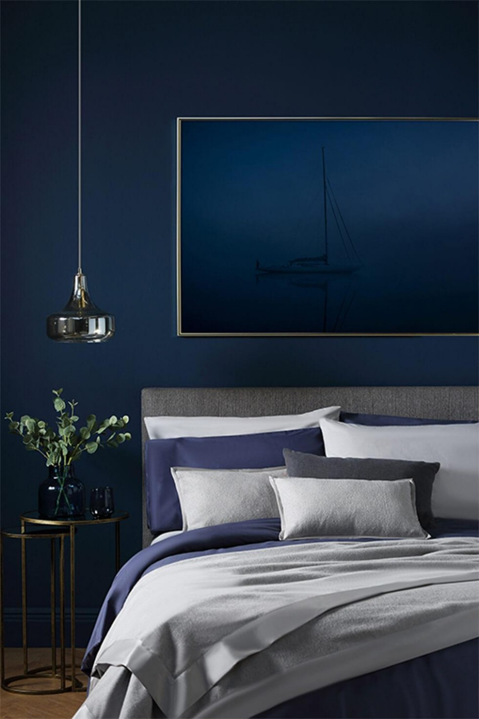 11 fabulous blue bedroom ideas that will inspire you to decorate - Bedroom Ideas Navy And Grey