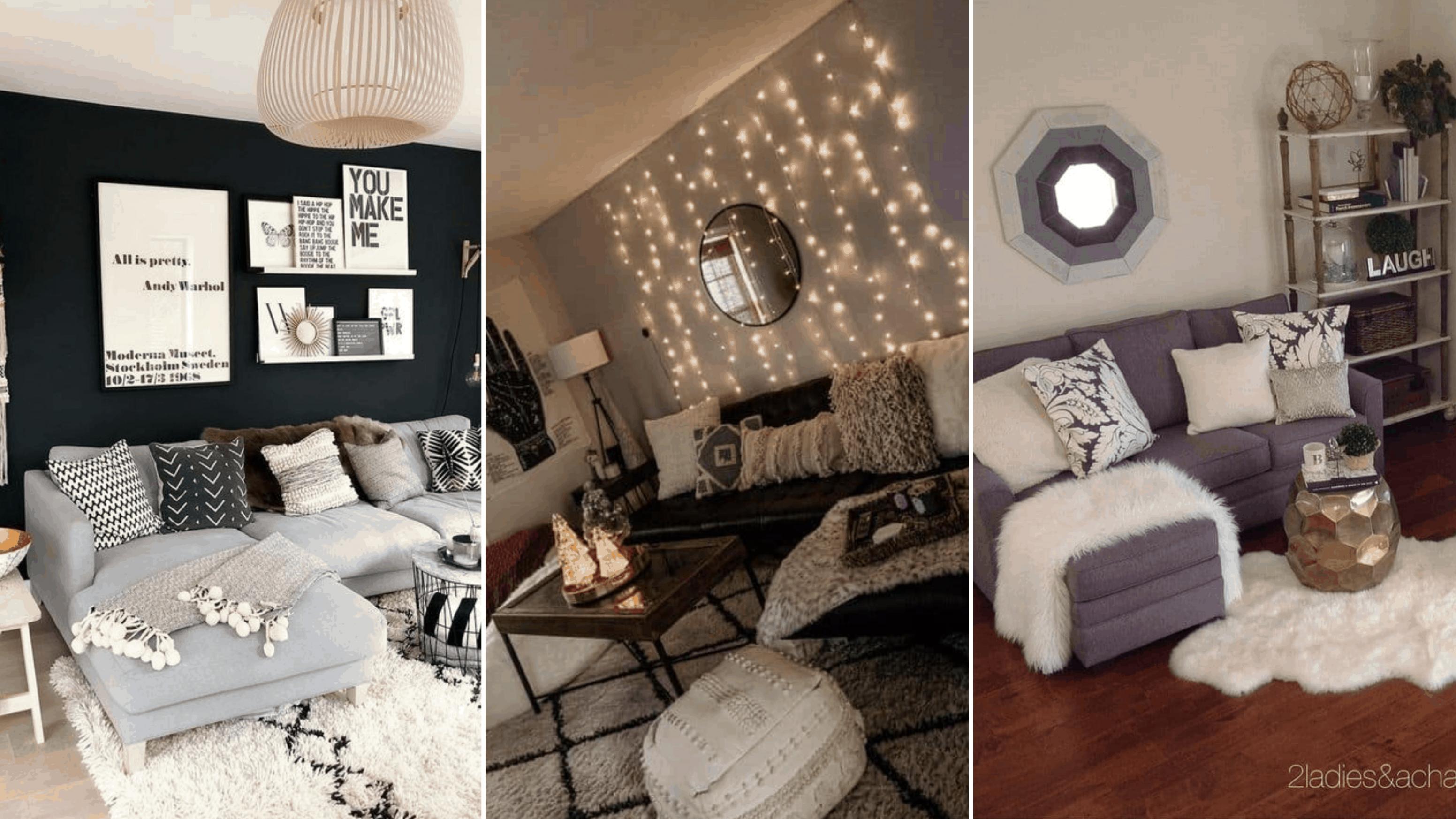 11 Genius College Apartment Decorating Ideas on a Budget - By  - Apartment Decorating Ideas College Students