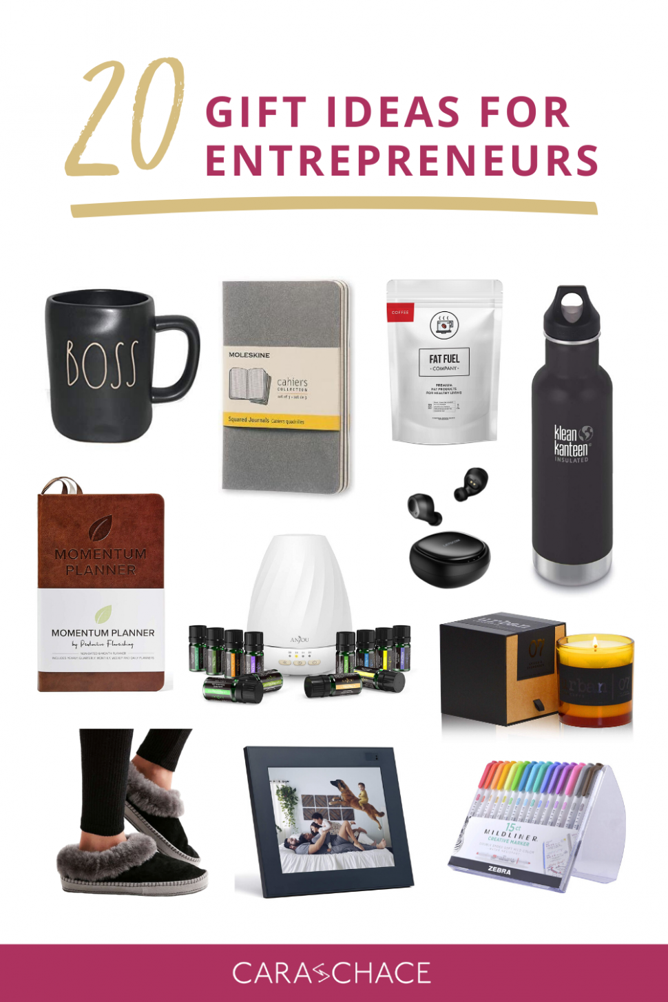 11 Gift Ideas For Entrepreneurs — Cara Chace  Pinterest Marketing  - Home Office Gift Ideas