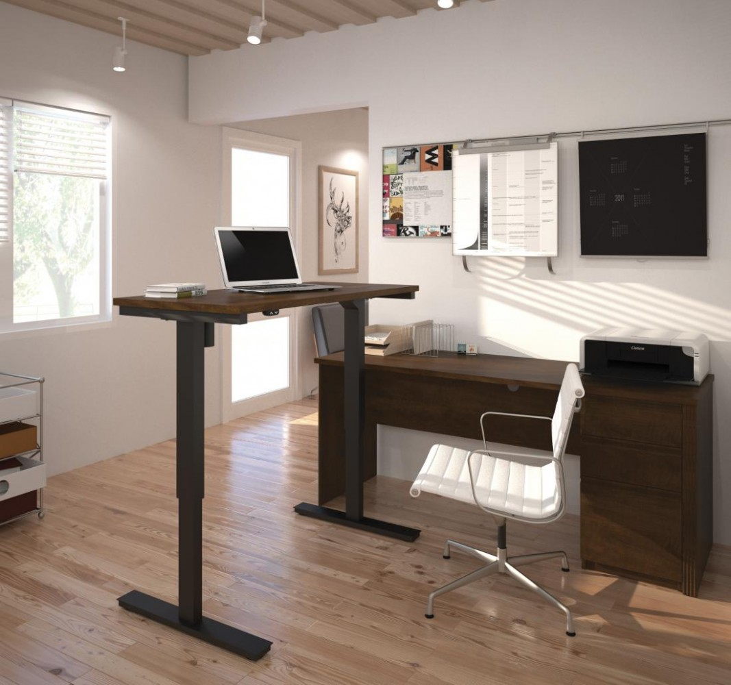 11 Items You MUST HAVE for the Ultimate Home Office - Bestar - Home Office Ideas With Standing Desk
