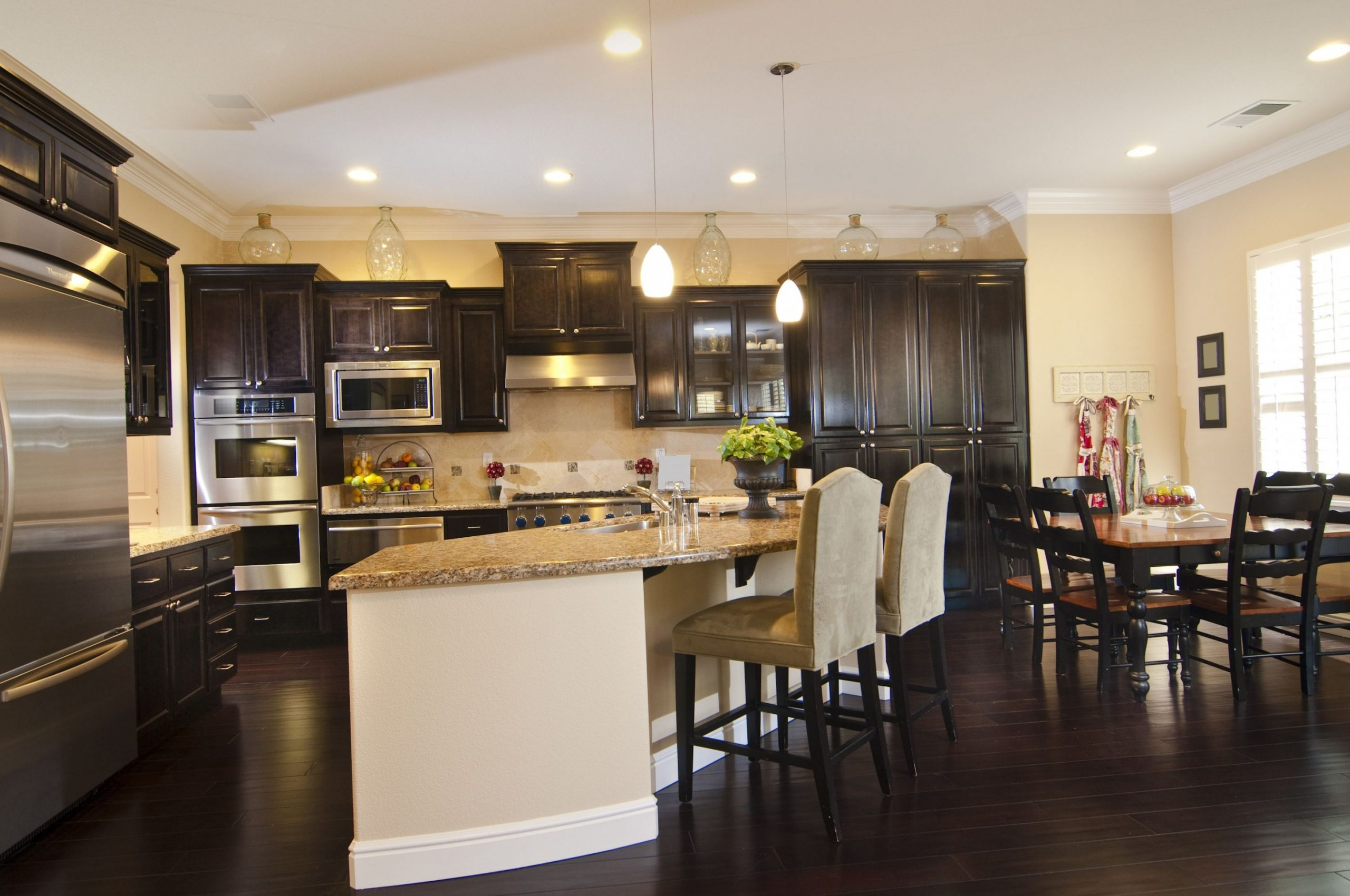 11 Kitchens with Dark Wood Floors (Pictures)  Dark kitchen floors  - Kitchen Cabinets With Dark Floors