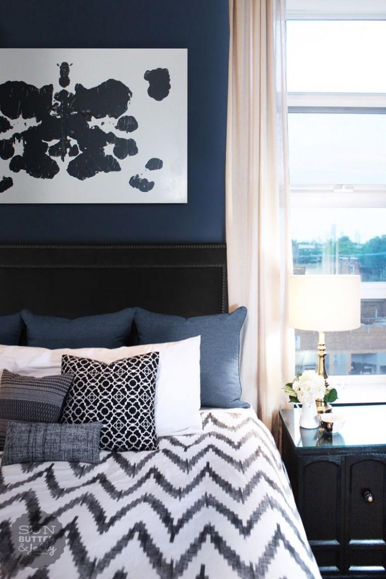11 Marvelous Navy Blue Bedroom Ideas  Blue bedroom decor, Blue  - Bedroom Ideas Dark Blue