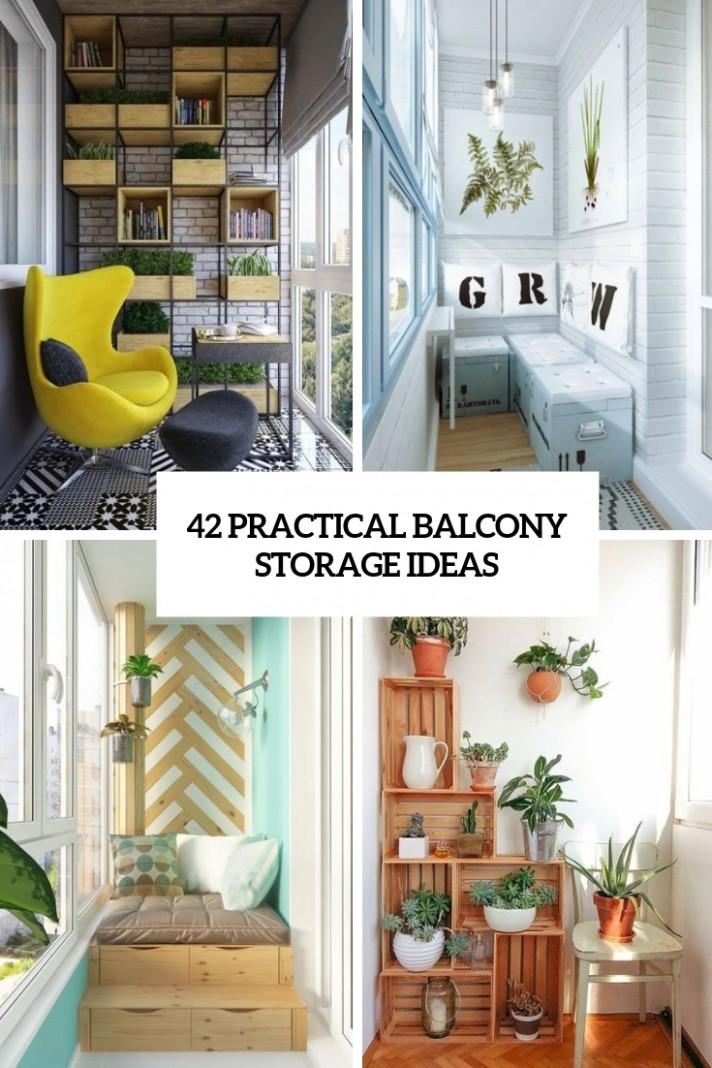 11 Practical Balcony Storage Ideas - DigsDigs - Apartment Balcony Enclosure Ideas