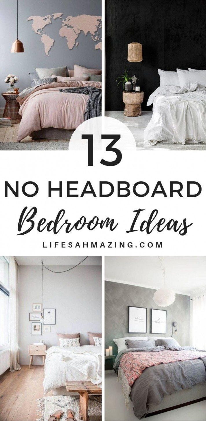 11 Practical No Headboard Ideas for Your Bedroom  Bedroom  - Bedroom Ideas Without Headboard