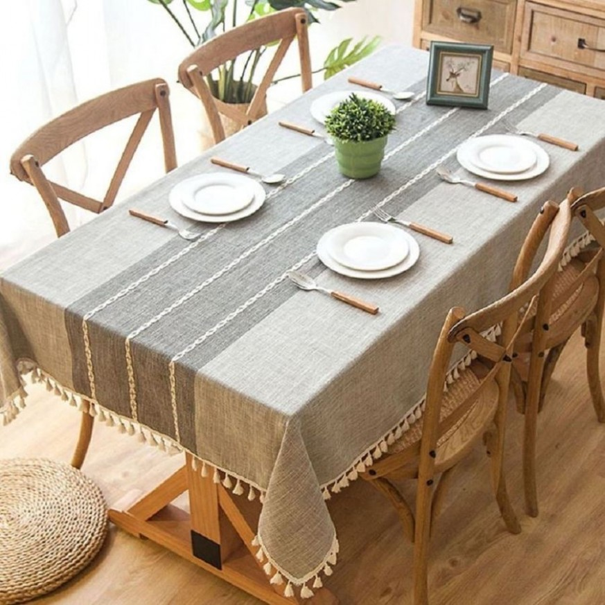 11+ The Correct Tablecloth Dimensions For Your Table  Dining  - Dining Room Ideas Tablecloth