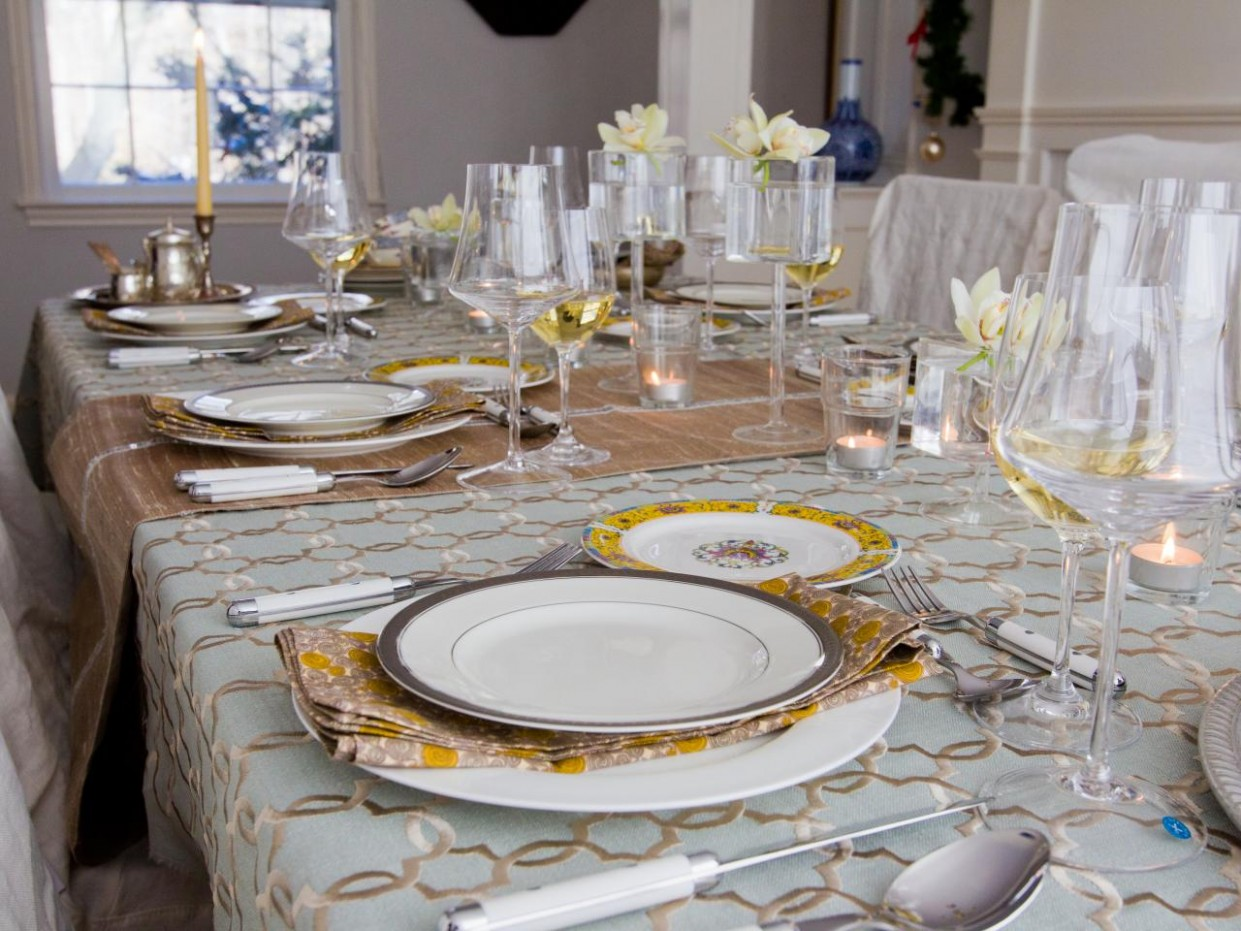 11 Tips for Storing Your Table Linens  HGTV - Dining Room Ideas Tablecloth