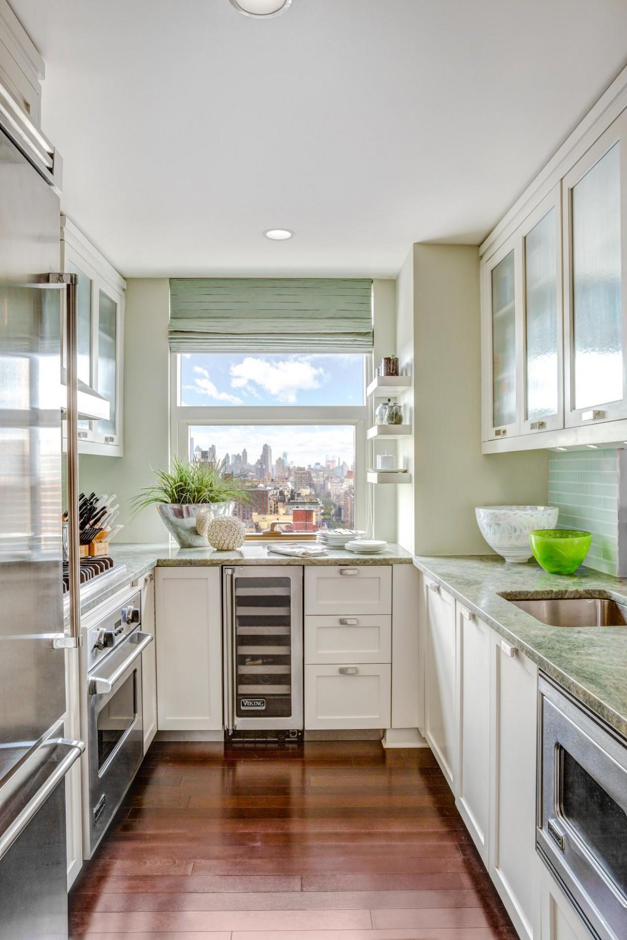 11 Ways to Make a Small Kitchen Sizzle  DIY - Diy Galley Kitchen Cabinet Ideas