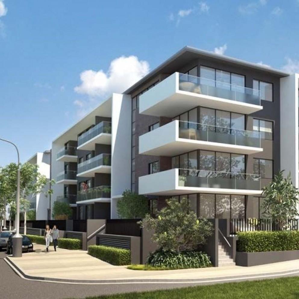 12 Amazing Apartment Building Facade Architecture Design - HOMISHOME - Apartment Design Facade