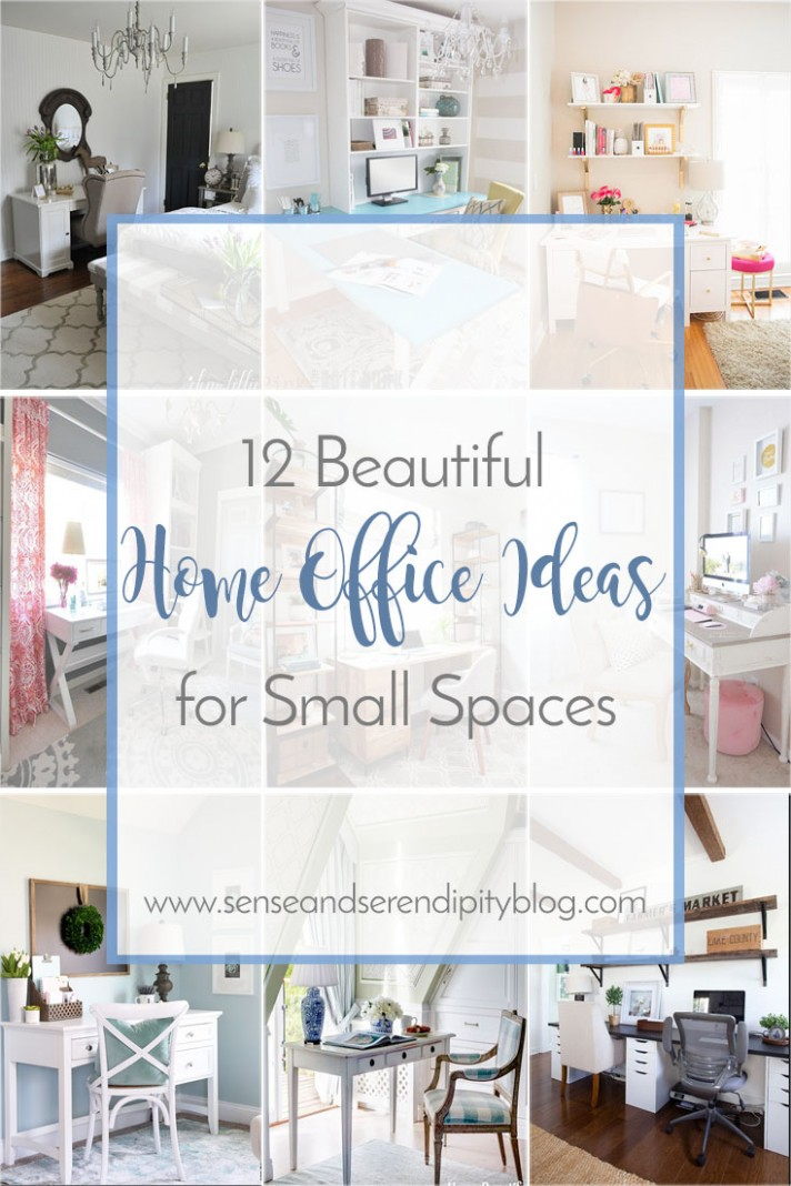 12 Beautiful Home Office Ideas for Small Spaces  Sense & Serendipity - Home Office Ideas Small Space