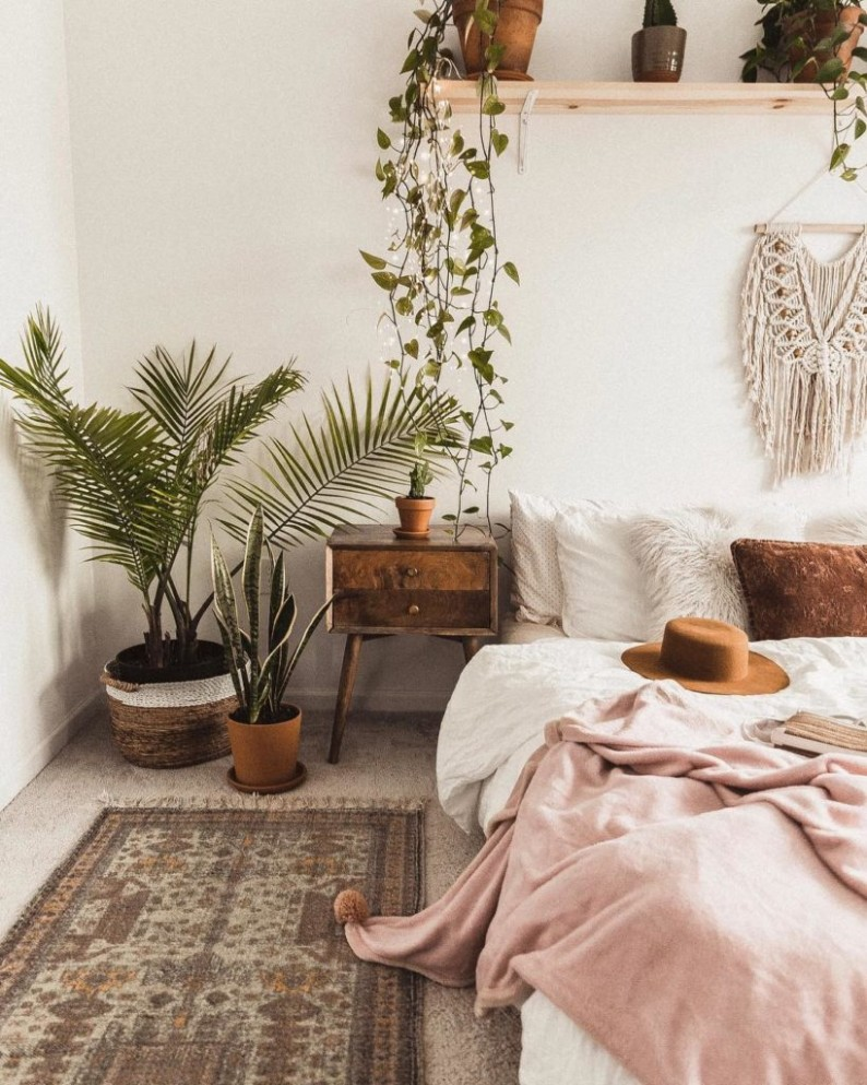 12 Bedroom Decorating Ideas to Take Your Space to the Next Level - Bedroom Ideas Plants