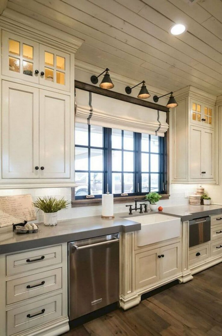 12 Best Farmhouse Kitchen Cabinet Ideas and Designs for 12 - Distressed White Kitchen Cabinets Pictures
