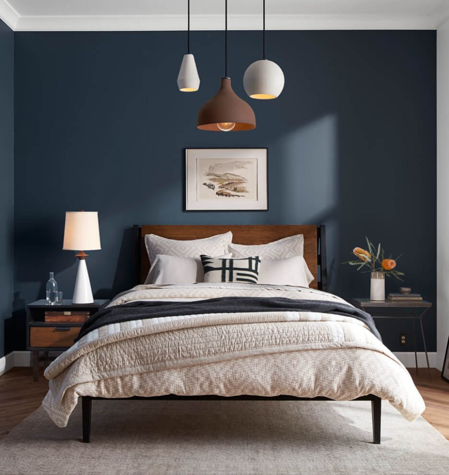 12 Best Navy Blue Bedroom Decor Ideas for a Timeless Makeover in 12 - Bedroom Ideas Navy And White