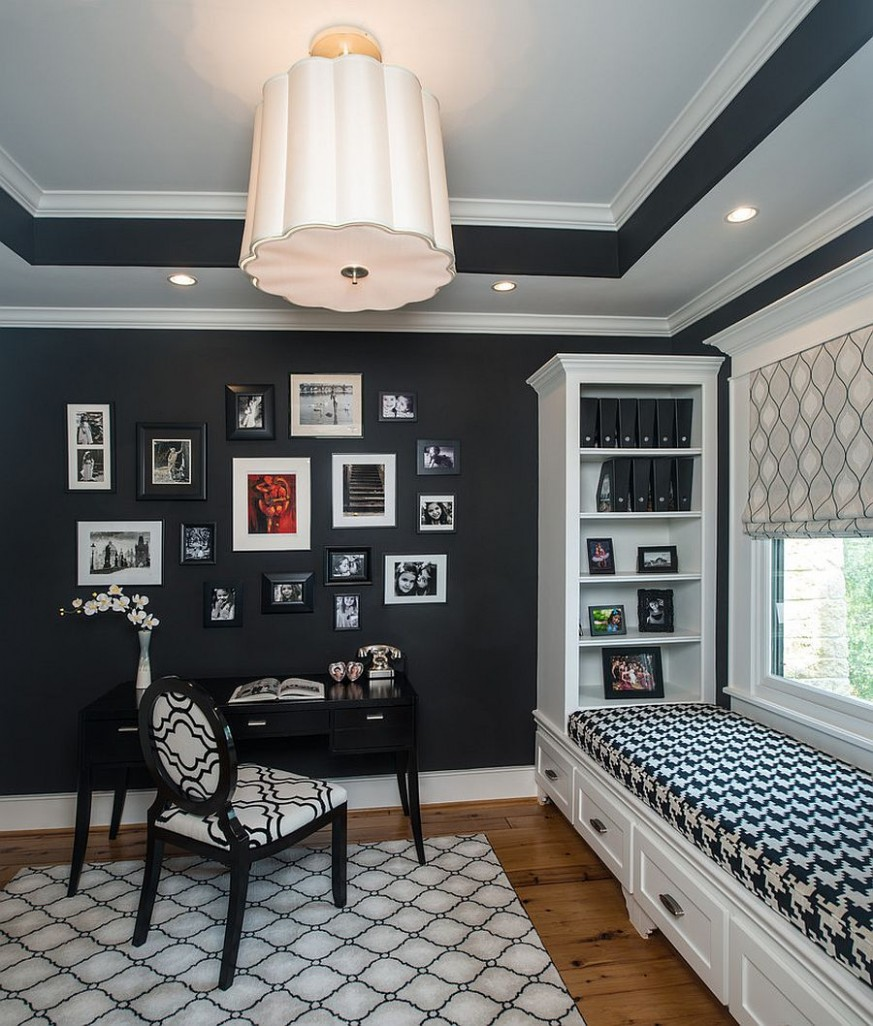 12 Black and White Home Offices That Leave You Spellbound - Home Office Ideas Black