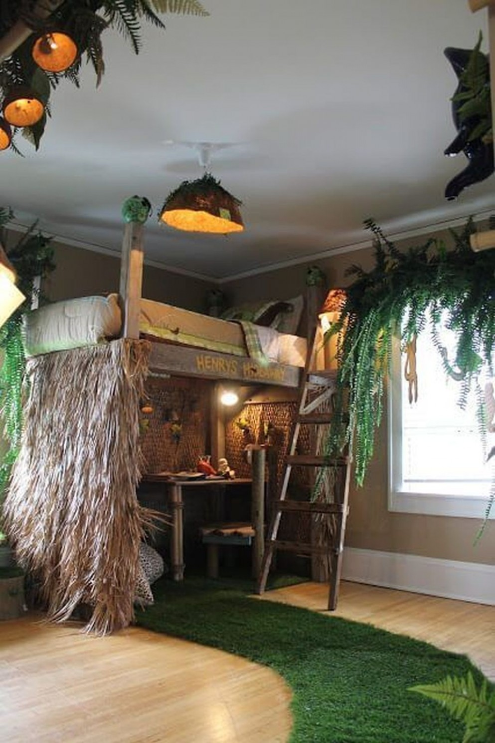 12+ Charming Kids Bedroom Ideas With Jungle Theme To Try  Jungle  - Childrens Bedroom Ideas Jungle