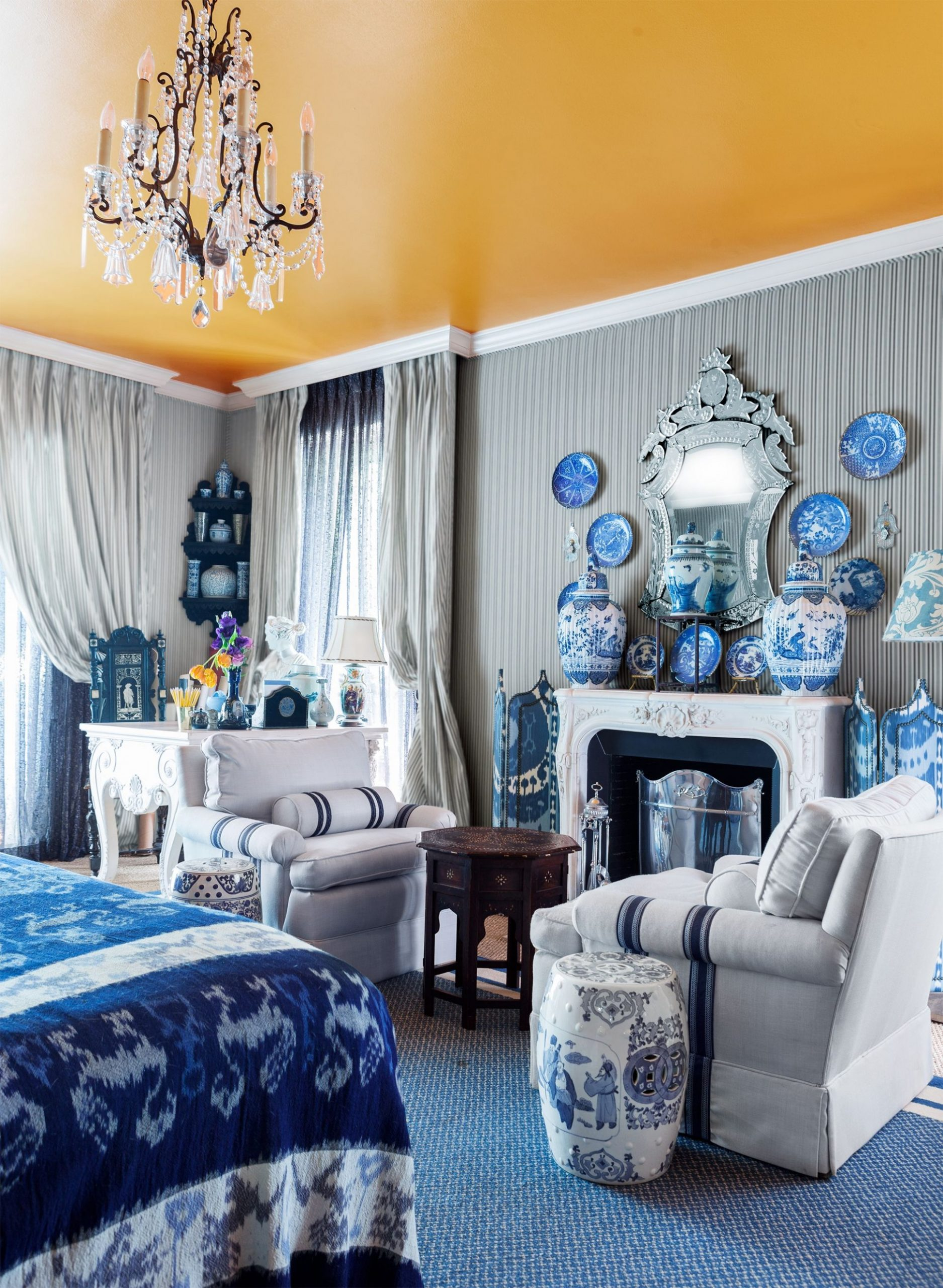 12 Cheerful Yellow Bedrooms - Chic Ideas for Yellow Bedroom Decor - Bedroom Ideas Yellow And Blue