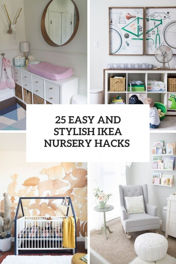 12 Easy And Stylish IKEA Nursery Hacks - Shelterness - Baby Room Hacks