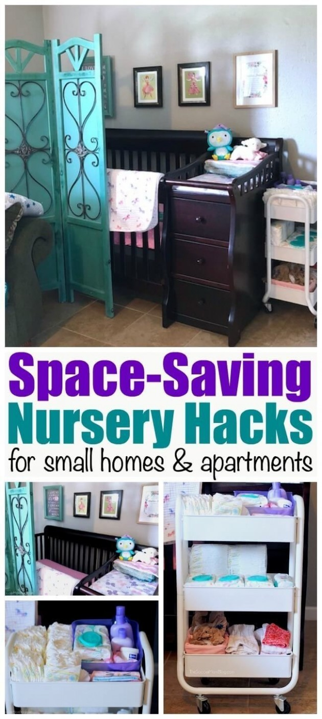 12 Genius Ways to Maximize a Small Nursery (w/ Video Tour)  Baby  - Baby Room Hacks