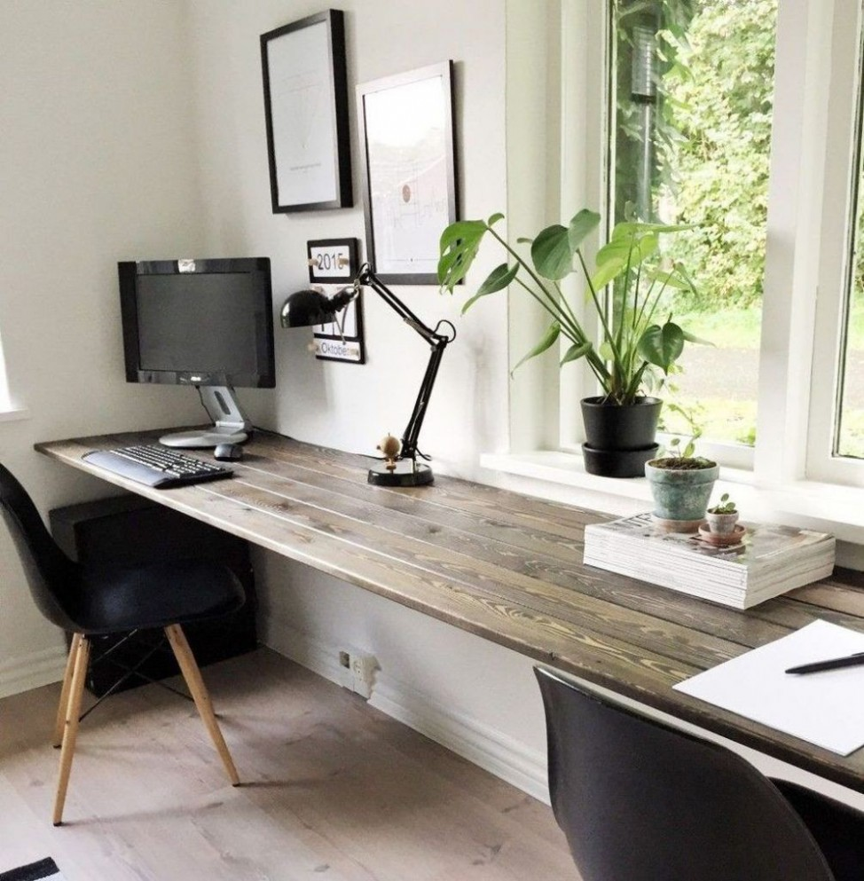 12+ Good Diy Office Wall Decorating Ideas  Office desk designs  - Home Office Ideas Diy