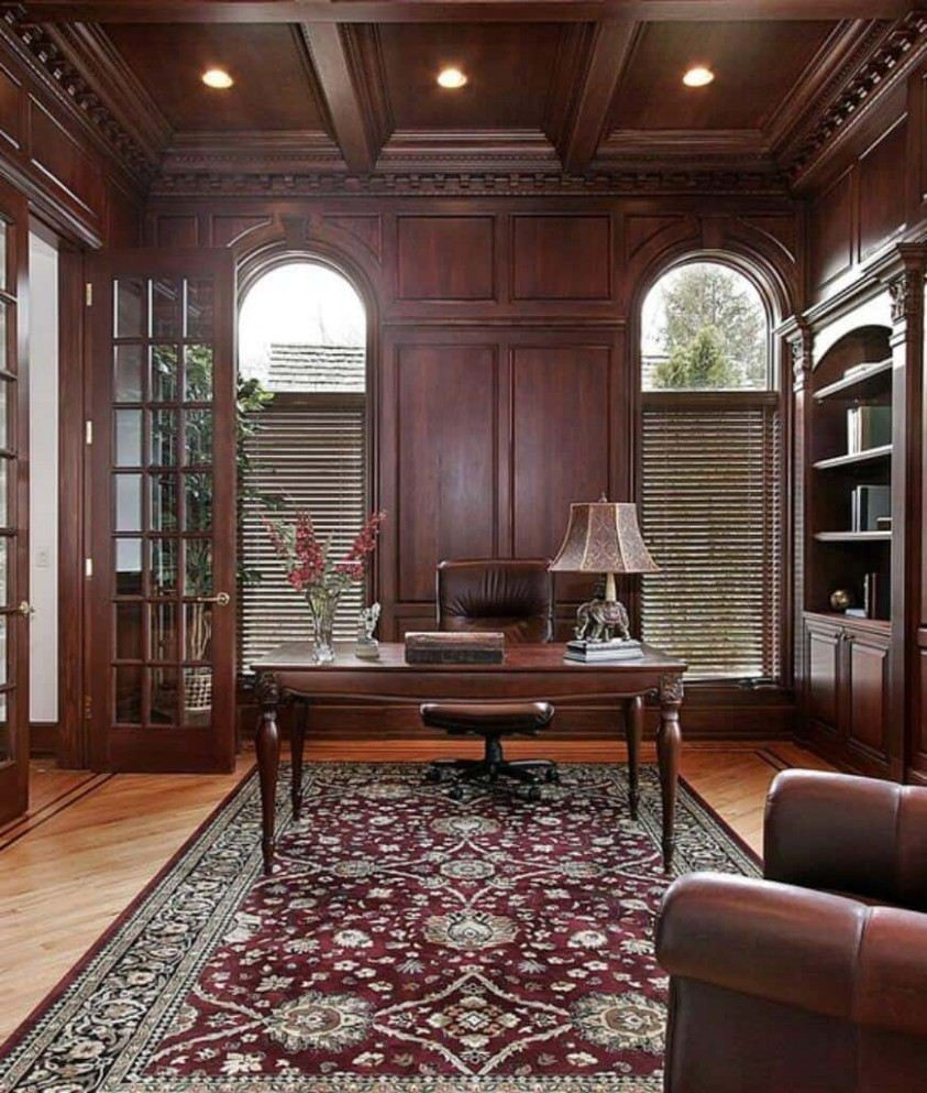 12 Home Offices with an Area Rug (Photos) - Home Office Ideas Carpet