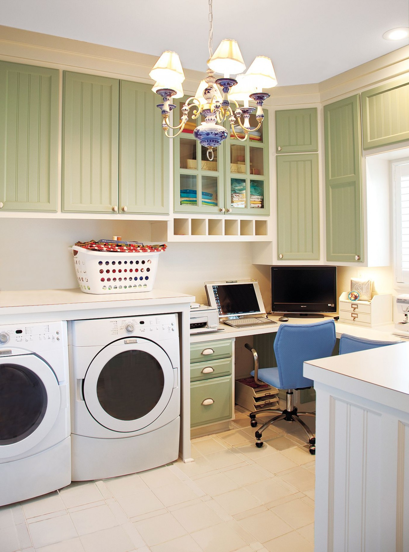 12 Ideas for a Fully Loaded Laundry Room - This Old House - Laundry Room Office Ideas