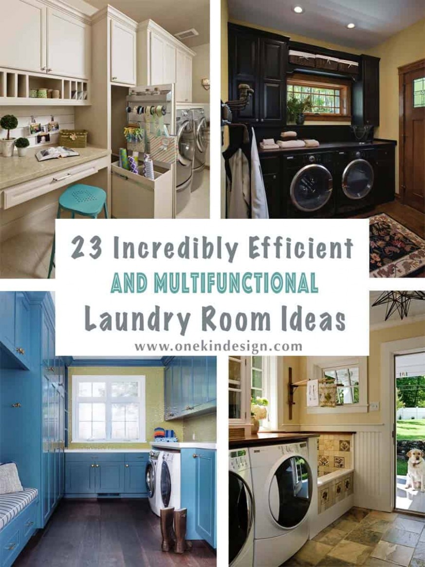 12 Incredibly Efficient And Multifunctional Laundry Room Ideas - Laundry Room Office Ideas