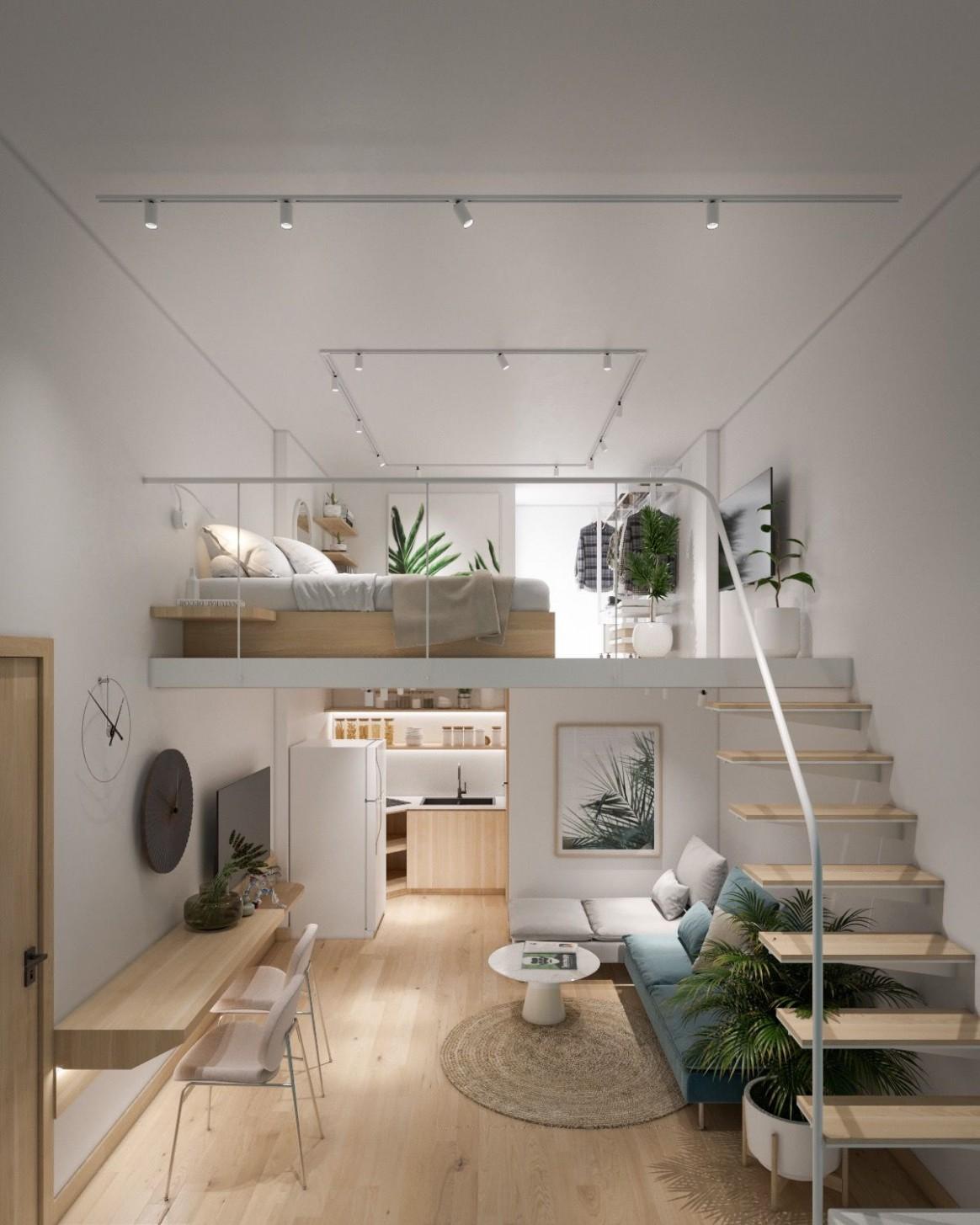 12 Inspirational Lofted Bedroom Layouts in 12  Small loft  - Apartment Design Minimalist