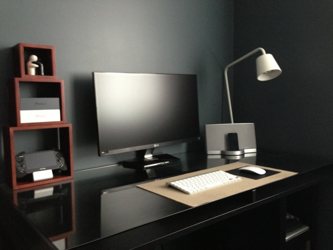 12+ Masculine Home Office Ideas & Inspirations  Man of Many - Home Office Ideas Black