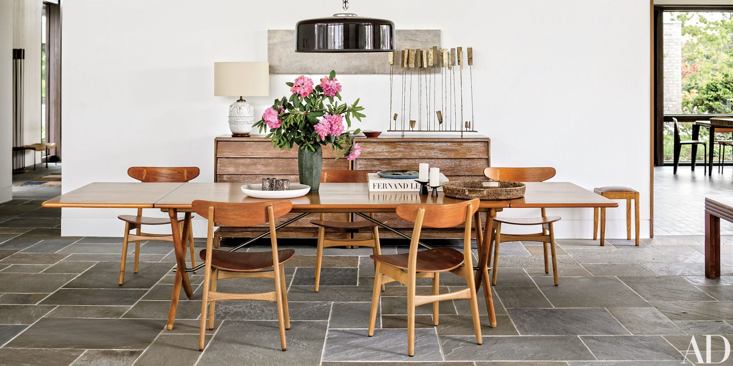 12 Midcentury-Modern Dining Rooms  Architectural Digest - Dining Room Ideas Contemporary