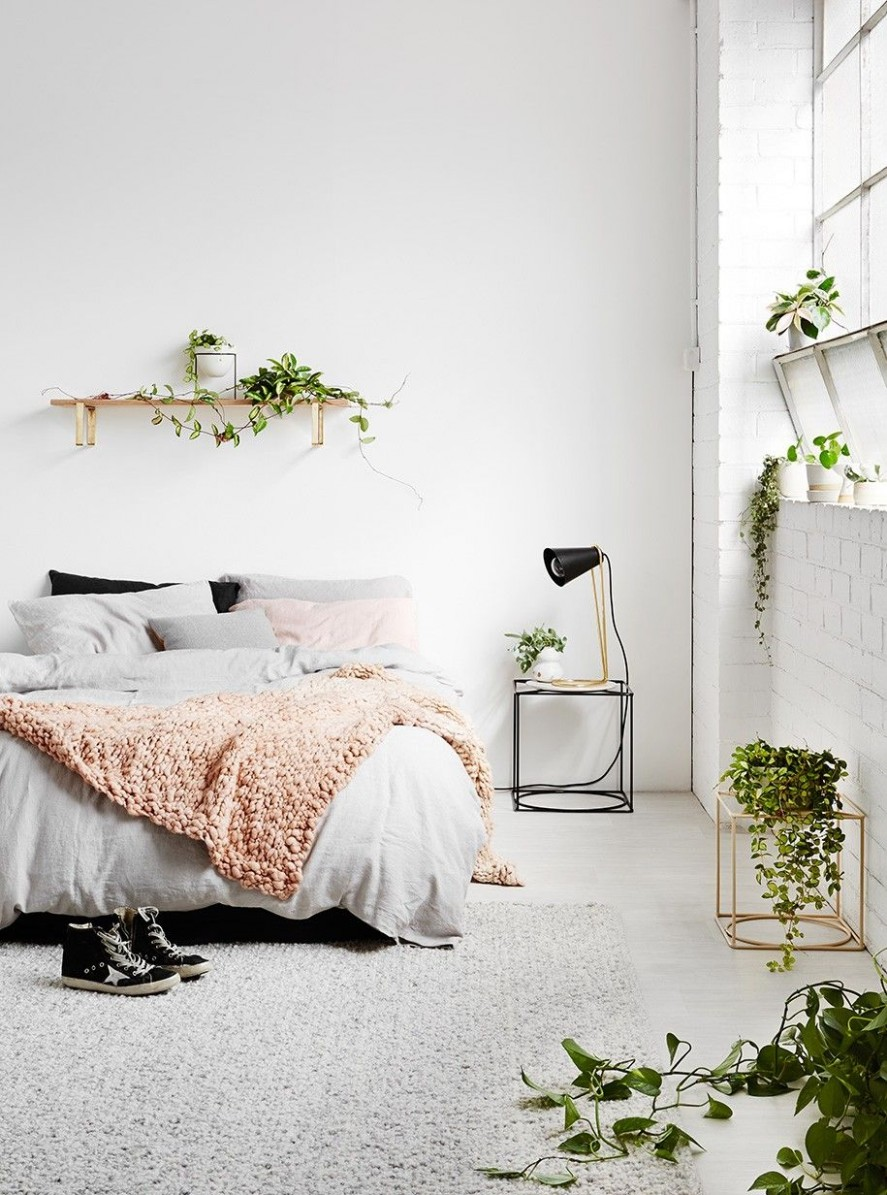 12 Minimalist Bedroom Ideas  Less is More  Homelovr  Home decor  - Bedroom Ideas Plants