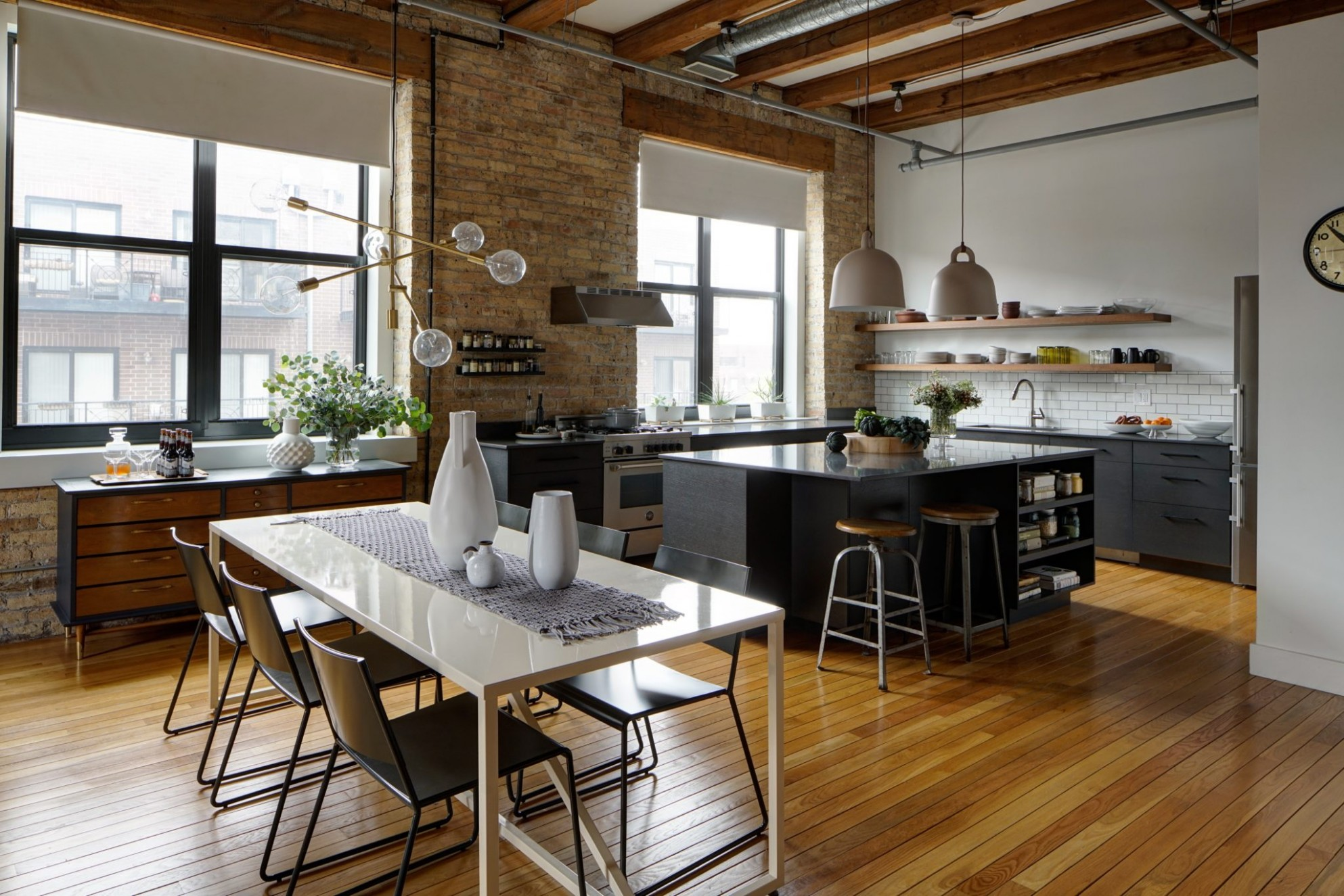 12 Open Kitchen & Dining Areas - Chairish Blog - Dining Room Open To Kitchen Ideas