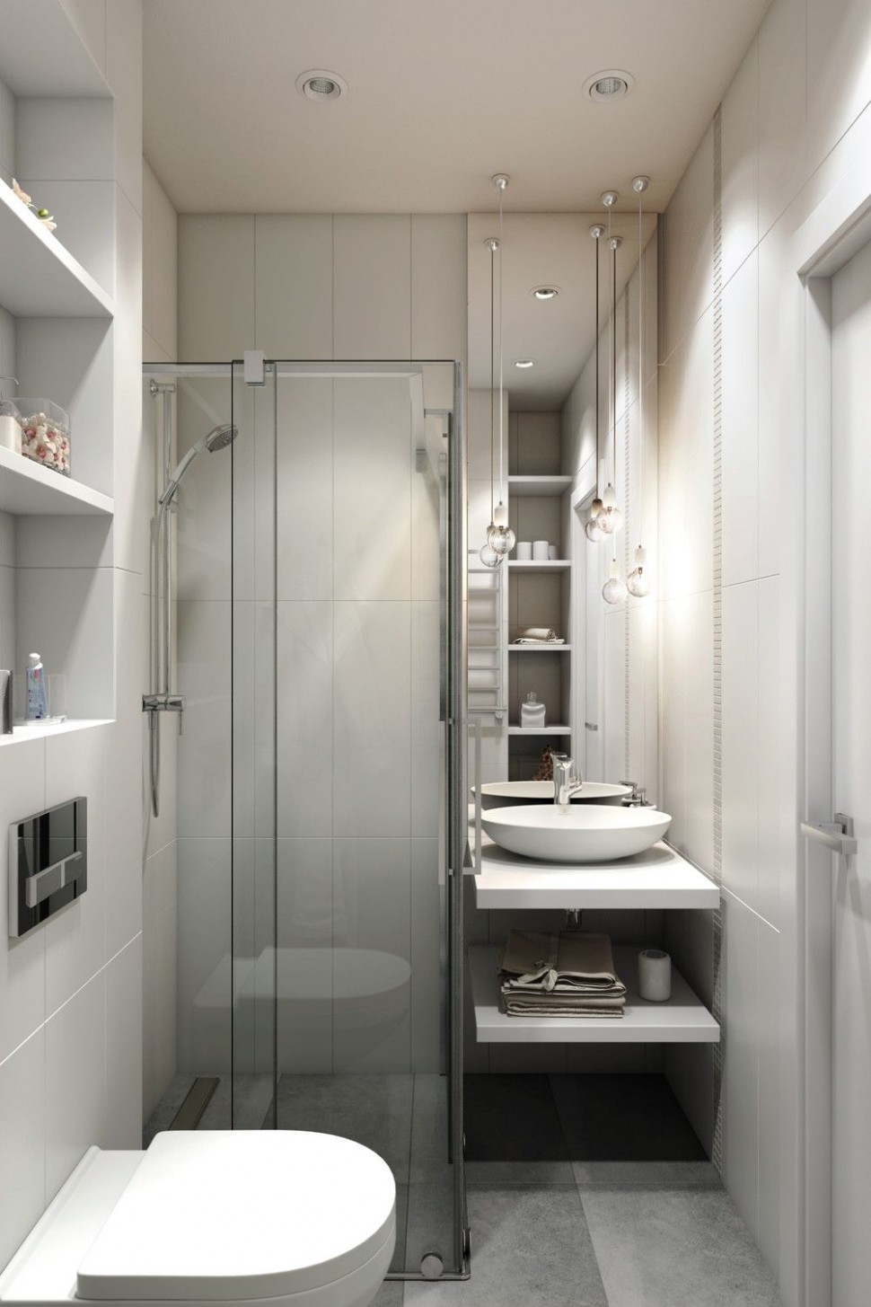 12 Small Apartments Showcase The Flexibility Of Compact Design  - Apartment Washroom Design